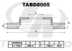Диск тормозной Trustauto ( TABD8005)