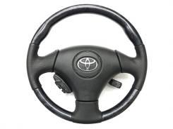 Анатомический руль с косточкой под чёрное дерево Toyota