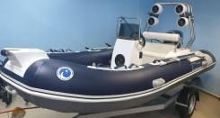 """Лодка Stormline Rib 420 Luxe + ПЛМ Mikatsu M50FES -T + Прицеп """"Русич"""""""