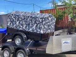 Легковой Прицеп Аляска Дачник, тент Камуфляж, фанерный борт