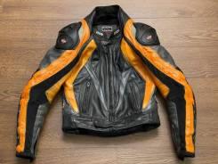 Фирменная кожаная мотокуртка IXS, Швейцария