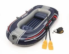 Надувная лодка Hydro-Force Raft Set 255х127 см с вёслами и насосом