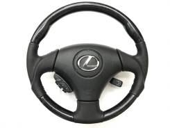 Анатомический руль с косточкой под чёрное дерево Lexus