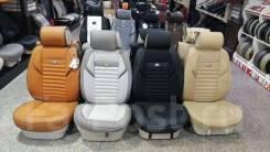 Чехлы сидений бежевые комбинированные Land Cruiser 100 / Lexus LX470