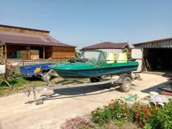 Продам лодку Обь 3 1990 года с мотором Tohatsu 30 и с прицепом.