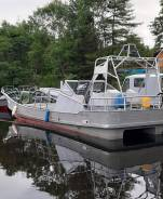 Продам алюминневую рыбацкую лодку с двумя плм Ямаха F200