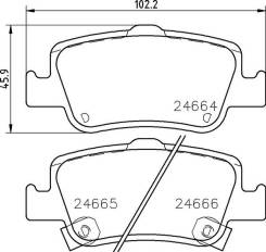 Колодки тормозные дисковые, задние, Toyota Auris (_E15_, _E18_)/Corolla (_E15_, _E18_, ZRE17_) NP1114 nisshinbo NP1114 в наличии