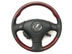 Анатомический руль с косточкой под красное дерево Lexus