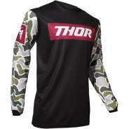 Джерси для мотокросса Thor S20 Pulse Fire черные 2XL