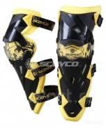 Наколенники Scoyco K12 желтый/белый/черный/зеленый цвета