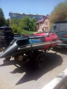 Надувная моторная лодка 3,1м. с мотором 15л. с. и прицепом