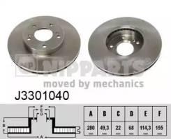 Диск тормозной Nissan Maxima (30) 3.0 88-94/(32) 2.0 95-97 передний вент. [J3301040]