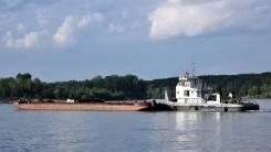 Продам буксир-толкач РТ-600 и баржу-площадку МП-1000 г/п 1000 тонн
