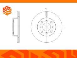 Диск тормозной вентилируемый G-Brake GR20527 передний