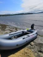 Продаю надувную лодку Corso 300 КТ с мотором Tohatsu 3.5.