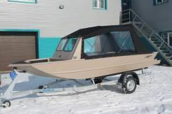 Лодка алюминиевая водомётная Гризли М+ мотор Mercury 60