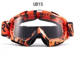 Очки мотокросс / эндуро VEGA U815 черный оранжевый