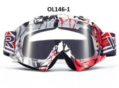 Очки мотокросс / эндуро Vemar OL146-1 черный белый красный