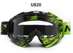 Очки мотокросс / эндуро Motovan U820 черный зеленый
