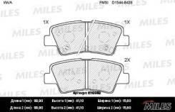 Колодки тормозные (смесь Semi-Metallic) задние (Hyundai Solaris, I30 II, I40, Tucson (JM), KIA SOUL, RIO III) (без датчика) (TRW GDB3494) E110062 Miles E110062
