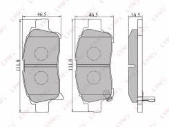Колодки тормозные передние LYNX Toyota Succeed / Probox / vitz / plarz