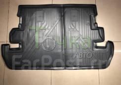 Модельный коврик в багажник для Toyota Land Cruiser 200 7 мест/ серый