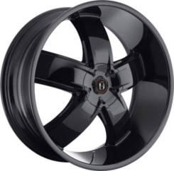 Легковой диск HARP Y-18 9,5x20 6x139,7 et15 108,1 gloss black with chrome accents
