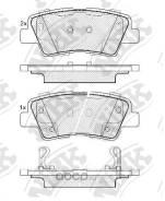 Колодки задние Hyundai Solaris, I30 II, I40, Tucson (JM), KIA SOUL