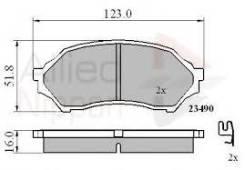 Колодки тормозные передние Mazda Familia / 323 / Premacy