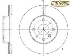 Диск тормозной перед. вентилируемый G-brake Daihatsu Pyzar G301G/G303G