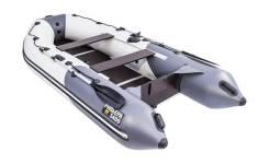 Надувная лодка ПВХ, Ривьера Компакт 3400 СК Комби, светло-серый/графит