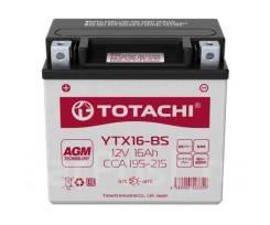 Аккумуляторная батарея Сухозаряженная Totachi CM 16 а/ч YTX16-BS R AGM