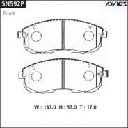 Дисковые тормозные колодки Advics SN592P