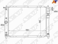 Радиатор Daewoo /Chevrolet Lanos 97- /ZAZ SENS 07- /Chance 09-(трубчатый) SG-DW0003-1