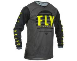 Джерси Fly Racing Kinetic K220 черная/серая/Hi-Vis желтая M