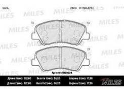 Колодки тормозные (смесь Semi-Metallic) передние (Hyundai Solaris, KIA RIO III) (без датчика) (TRW GDB3548) E100036 Miles E100036
