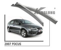 FORD Focus 2 2004-2011 Ветровики с Хромом (Дефлекторы окон)