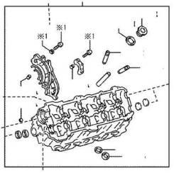 Toyota Lexus Головка блока цилиндров 1110259055