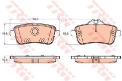 Колодки тормозные дисковые задние MB W166 ML250/GL TRW,gdb1947