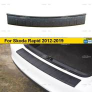 Накладка на задний бампер Skoda Rapid (лифтбек) 2012-2019