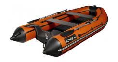 Надувная лодка ПВХ, Адмирал-330 CF НДНД, оранжевый/черный