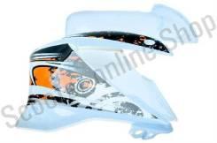 Пластик боковой передний (пара) Racer RC200GY-C2, RC250GY-C2 Panther (белый)