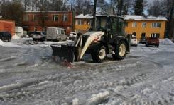 Новый снеговой отвал для экскаватора погрузчика