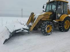 Новый снеговой отвал с гидравлическим поворотом на Terex