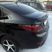 Лип спойлер Hyundai Solaris (Хендай Солярис) седан 2010-2017г