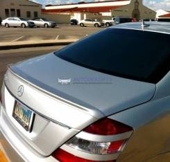 Лип спойлер на багажник Mercedes W221 (Мерседес 221) 2005-2013г