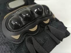 Мото перчатки Укороченные (без пальцев) с защитой