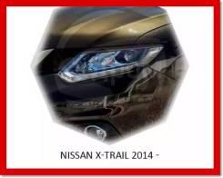 Реснички (накладки) на фары Nissan X-Trail от 2014г