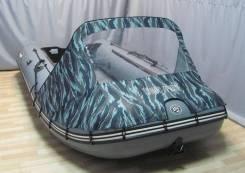 Носовой тент синий камуфляж для лодки Солар 420