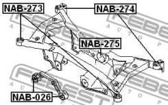 Сайлентблок подушки дифференциала Febest NAB026